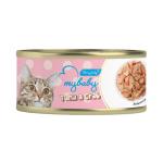 My baby 貓罐頭 吞拿魚及蟹柳 Tuna with Crab 85g (橙)(90401382B) 貓罐頭 貓濕糧 My baby 寵物用品速遞
