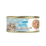 My baby 貓罐頭 吞拿魚及白飯魚 Tuna With Whitebait 85g (藍) (90401380B) 貓罐頭 貓濕糧 My baby 寵物用品速遞