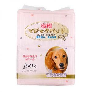 狗尿墊-DEPEND魔術-清新花香除臭吸收寵物尿墊-狗尿墊-狗尿片-33x45-S碼-100枚-狗狗-寵物用品速遞