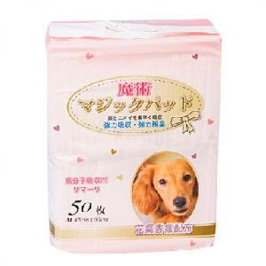 狗尿墊-DEPEND魔術-清新花香除臭吸收寵物尿墊-狗尿墊-狗尿片-45x60-M碼-50枚-狗狗-寵物用品速遞