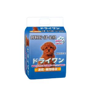 安潔樂ドライワン-寵物尿墊-狗尿墊-狗尿片-45x60-M碼-50枚入-藍-狗尿墊-寵物用品速遞