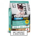 nutram紐頓-nutram-IDEAL紐頓-敏感腸胃及皮膚配方貓糧-I19-5_4kg-Nutram-紐頓-寵物用品速遞