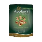 Applaws Cat Pouch 貓濕糧 雞胸及蘆筍 Chicken with Asparagus 70g (草綠) (8002) 貓罐頭 貓濕糧 Applaws 寵物用品速遞