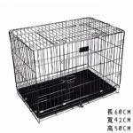 中型寵物籠 顏色隨機 (貓犬用) (L61cm*W42cm*H50cm) 貓犬用日常用品 寵物籠 寵物用品速遞