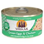 WeRuVa 主食貓罐頭 無骨及去皮雞胸肉、雞蛋、豌豆 Green Eggs and Chicken 85g (淺綠) (001043) 貓罐頭 貓濕糧 WeRuVa 寵物用品速遞