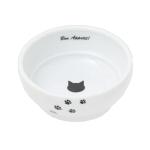日本猫壱 necoichi ペット 陶瓷平底寵物糧食碗 (猫柄腳印款) (貓犬用) 貓犬用日常用品 飲食用具 寵物用品速遞
