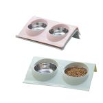 寵物兩用 防滑寵物糧食水碗 (顏色隨機) 貓犬用日常用品 飲食用具 寵物用品速遞