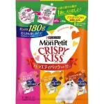 日本MonPetit Crispy Kiss 貓脆餅 魚肉雞肉及芝士味 180g (紅黃橙) 貓小食 MonPetit 寵物用品速遞