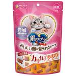 日本unicharm 三星銀匙貓脆餅 腎臓健康配方 海鮮味 60g (桃紅) 貓小食 Unicharm 三星銀匙 寵物用品速遞