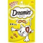 日本Dreamies 護齒夾心酥 雞肉味 60g (黃) 貓小食 Dreamies 寵物用品速遞