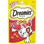日本Dreamies 護齒夾心酥 海鮮及雞肉味 60g (紅) 貓小食 Dreamies 寵物用品速遞