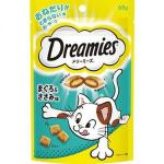 日本Dreamies 護齒夾心酥 金槍魚及雞肝味 60g (藍綠) 貓小食 Dreamies 寵物用品速遞