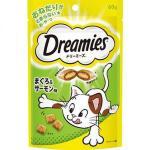 日本Dreamies 護齒夾心酥 金槍魚及三文魚味 60g (青) 貓小食 Dreamies 寵物用品速遞
