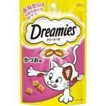 日本Dreamies 護齒夾心酥 鰹魚味 60g (粉紅) 貓小食 Dreamies 寵物用品速遞