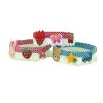 日本鮮味生果圖案 貓貓頸帶 M碼 (顏色隨機) 貓貓 貓咪飾物 寵物用品速遞