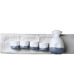 日式和風清酒陶瓷小酒壺 白藍色 一瓶四杯 酒品配件 Accessories 清酒杯 清酒十四代獺祭專家