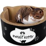 瓦楞紙貓耳朵貓窩 貓碗貓抓板 (顏色隨機) 貓咪玩具 貓抓板 貓爬架 寵物用品速遞