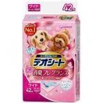 unicharm消臭大師-日本unicharm-柔軟香氛超除臭-粉紅花香味-寵物尿墊-狗尿墊-狗尿片-60x44-XL碼-42枚入-粉紅角-狗尿墊-寵物用品速遞