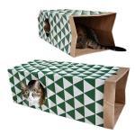 貓咪玩具-雙層牛皮紙貓隧道-一件-貓貓-寵物用品速遞