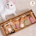 劍麻逗貓棒 老鼠羽毛套裝 7本入 貓咪玩具 逗貓棒 寵物用品速遞
