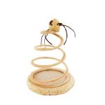 劍麻螺旋彈簧老鼠 逗貓玩具 一個 貓咪玩具 其他 寵物用品速遞