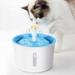 花朵噴泉流水 電動循環寵物飲水機飲水器 (顏色隨機) 貓犬用日常用品 飲食用具 寵物用品速遞