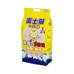 富士貓之王樣-豆腐貓砂-富士貓之王樣-天然玉米豆乳豆腐貓砂-原味-17_5L-原裝行貨-豆腐貓砂-豆乳貓砂-寵物用品速遞