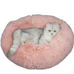 寵物床 圓形絨毛厚身軟軟睡窩 粉紅 M碼 貓犬用日常用品 床類用品 寵物用品速遞