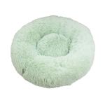 寵物床 圓形絨毛厚身軟軟睡窩 粉綠 M碼 貓犬用日常用品 床類用品 寵物用品速遞