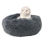 寵物床 圓形絨毛厚身軟軟睡窩 深灰 L碼 貓犬用日常用品 床類用品 寵物用品速遞