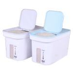 日式大容量防潮密封翻蓋式 貓糧狗糧 糧桶連小量杯 顏色隨機 (容量約5kg) 貓犬用日常用品 飲食用具 寵物用品速遞
