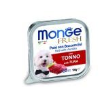 狗罐頭-狗濕糧-Monge-Fresh-狗餐盒-吞拿魚-100g-MO3017-Monge-寵物用品速遞