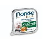 狗罐頭-狗濕糧-Monge-Fresh-狗餐盒-雞肉蔬菜-100g-MO3031-Monge-寵物用品速遞