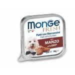 狗罐頭-狗濕糧-Monge-Fresh-狗餐盒-牛肉-100g-MO3079-Monge-寵物用品速遞