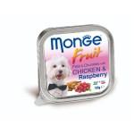 狗罐頭-狗濕糧-Monge-Fruits-狗餐盒-雞肉山莓-100g-MO3215-Monge-寵物用品速遞