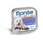 狗罐頭-狗濕糧-Monge-Fruits-狗餐盒-火雞藍莓-100g-MO3208-Monge-寵物用品速遞