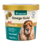 狗狗保健用品-NaturVet天然寶-金裝三文魚油營養保健品-90粒-犬用-N3692-營養保充劑-寵物用品速遞