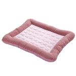 寵物夏日 條紋冰涼冰絲睡窩 M碼 (顏色隨機) 貓犬用日常用品 床類用品 寵物用品速遞
