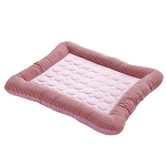寵物夏日 條紋冰涼冰絲睡窩 L碼 (顏色隨機) 貓犬用日常用品 床類用品 寵物用品速遞